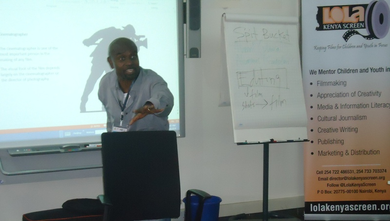 The late Otebele co-facilitated a cinematography workshop at Lola Kenya Screen in 2014 that brought children from Kampala, Kigali, Bujumbura, Dar es Salaam and Zanzibar to Nairobi to collaborate with their Kenyan counterparts