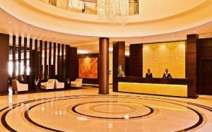 Reception area of DoubleTree Hurlingham Nairobi Hotel