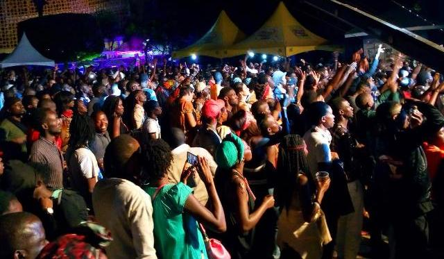 No sooner had he signed out with the crowd's favourite--Namagembe--than the big crowd that had turned up at the opening of the 10th Bayimba International Festival of Music and Art at the National Theatre in the Ugandan capital, Kampala, thinned out immediately as proof that Roots Reggae star David Ssemanda Ssematimba (aka Madoxx) wowes the crowd-puller. Image by Elite Music TV.