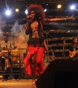 A performer does her thing during the 10th Bayimba Arts Festival. Elite Music TV image