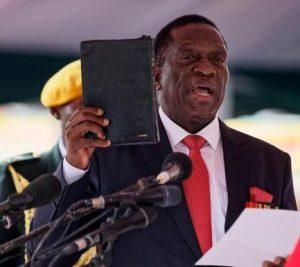 Emmerson Mnangagwa takes oath of office as 2nd President of Zimbabwe on 24.11.17.