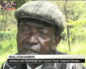 Gabriel Omolo, song-writer, singer, guitarist and band leader, speaks in a programme on K24 TV of Nairobi