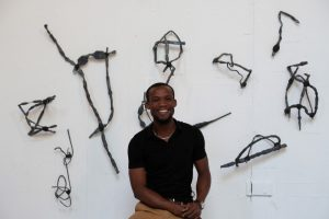 Makouvia Kokou Ferdinand's sculptural and performance work emanate from his own personal experiences