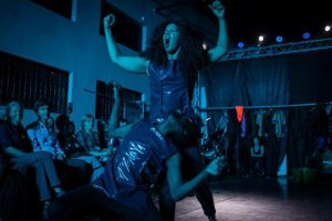 One of the scenes in the choreographic fashion concert Chombotrope performed in Kampala. Photo by Esther Mbabazi.
